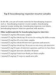 construction inspector resume top8housekeepinginspectorresumesamples 150601103333 lva1 app6891 thumbnail 4 jpg cb u003d1433154857