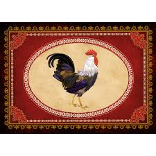 Chicken Rug Red Lifestyle Rooster Premium Comfort Mat