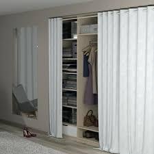 rideau pour placard cuisine rideau pour armoire dressing par rideau metallique pour meuble