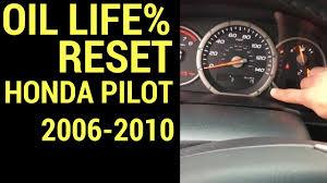 how to reset the oil life on a honda pilot 2006 2010 youtube