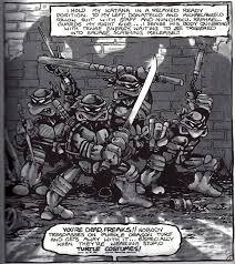 teenage mutant ninja origins 1 black white comic