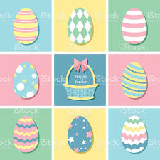 pastel easter eggs pastel colour easter eggs stock vector more images of