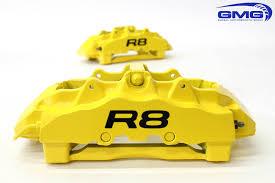 lexus yellow brake calipers gmg racing audi r8 brake caliper paint 6speedonline porsche