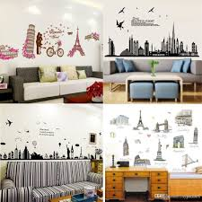 places of interest cartoon wall stickers home decor world u0027s famous