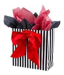 black and white striped tissue paper valentines day large gift bag w tissue paper black white stripes