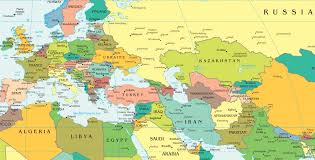 map of europe map of europe and russia together major tourist