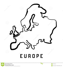 Blank Map Of Continents by Europe Simple Outline Stock Vector Image 87376416