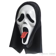 horror death grimace halloween mask scary ghost mask red tongue