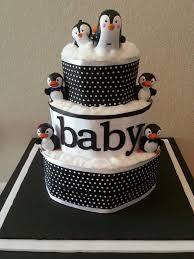 penguin baby shower penguin themed baby shower cake ideas by m