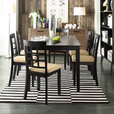 black dining room sets homesullivan 7 piece black dining set 40122d200w 7pc 712w the