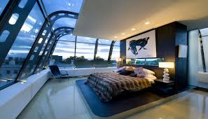 cool bedroom with 360 degree view interior design ideas