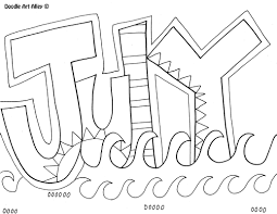 july coloring page getcoloringpages com
