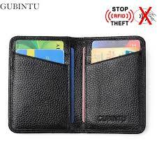 porte box auto gubintu leather credit card holder rfid designer card wallet