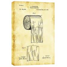 wrapped toilet paper cortesi home toilet paper roll vintage patent graphic on