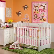 Pink Monkey Crib Bedding Nifty Monkey Crib Bedding Sets M84 In Home Decor Arrangement