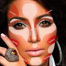 eyeshadow tutorial for brown skin 10 contouring tutorials for every face and skintone kim kardashian