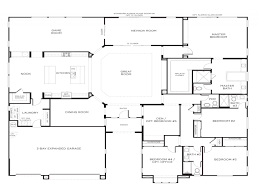 One Story Luxury Home Floor Plans by 5 Bedroom One Story Floor Plans With House On Any Trends Images