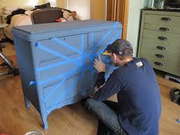 Union Jack Home Decor Painting A Union Jack British Flag On A Dresser Tutorial Megmade