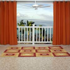 Outdoor Gazebo With Curtains by Orange Polyester Outdoor Curtains With Grommets Dfohome