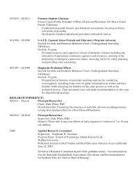 resume format college student internship internship journal sle clinical psychology resume templates