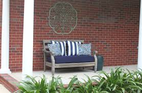 Ideas For Outdoor Loveseat Cushions Design Decorating Ideas Appealing Front Porch Decoration Using Nautical