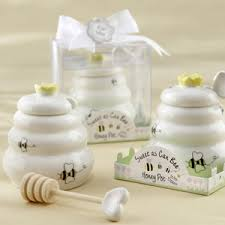 honey favors sweet as can bee ceramic honey pot favor baby shower favors