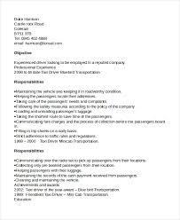 Resume Or Cv Sample by Driver Resume Template 6 Free Word Pdf Document Downloads