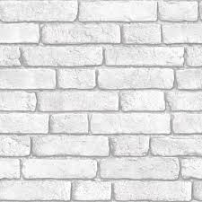 muriva white brick wall wallpaper clearance diy at b u0026q