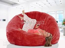 2017 long fur red beanbag lounge cover extra large big bean bag