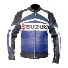 blue motorcycle jacket suzuki gsxr jacket racing leather motorcycle jacket