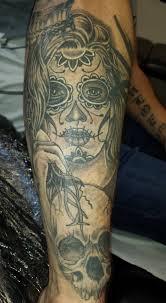 day of the dead sugar skull skull black and grey shade