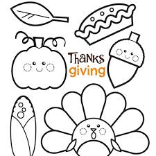 bright and modern thanksgiving coloring page happy
