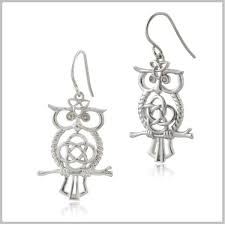 owl earrings owl mythology celtic owl earrings owl celtic jewelry