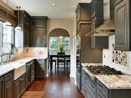 black cabinets in kitchen home design interior