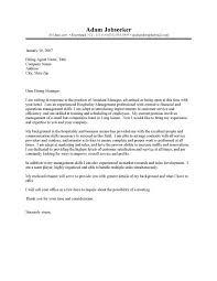 cover letter for hotel jobs the letter sample