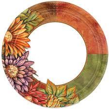 floral 10 25 thanksgiving banquet paper plates 18ct