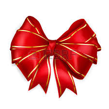 wide ribbon bow of wide ribbon with diagonally ribbons with golden strips