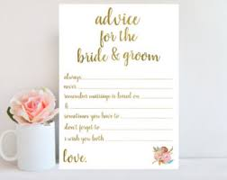 my advice for the and groom cards advice for the and groom bridal shower printable