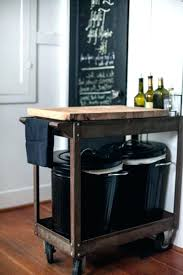 kitchen mobile island storage bins raised series inch tilt out stainless steel trash