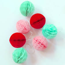 5cm lot of 100 wholesale tissue paper honeycomb balls mini hanging