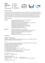 resume summary exles human resources assistant skills hr assistant cv template job description sle candidates