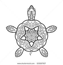 tortoise ornate zentangle your design stock vector 416572420