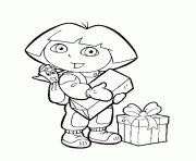 swinging boots dora printe4a0 coloring pages printable