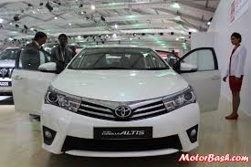 toyotas new car auto expo new toyota corolla altis interior pics u0026 details