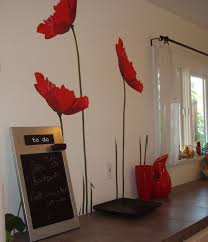 Ikea Flower Curtains Decorating Height Poppy Wall Decal Flowers Modern Unique