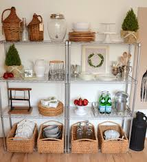 storage kitchen stainless steel kitchen wire shelving units with rattan basket