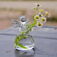 Decoration Vase Angel Glass Vase Flower Pots Planters Home Decorative Vase Wedding