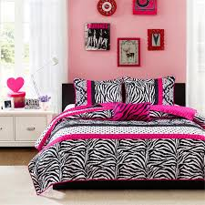 girls bedding collections pink black u0026 white zebra print teen bedding twin full
