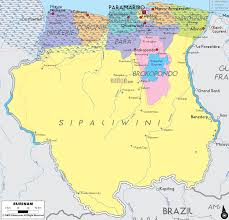 Political Map Of South America Detailed Clear Large Map Of Surinam Ezilon Maps