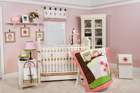 Light Pink Rugs For Nursery Bedroom Modern Cradle With Soft White Tone Combining With